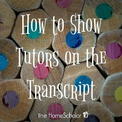 How to Show Tutors on the Transcript
