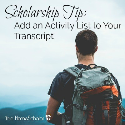 Scholarship Tip: Add an Activity List to Your Transcript