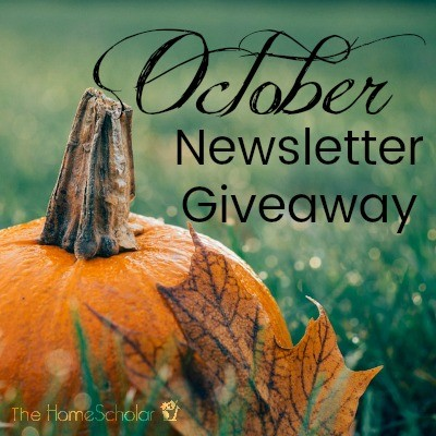 October Newsletter Giveaway