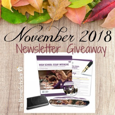 November Newsletter Giveaway - Enter now!