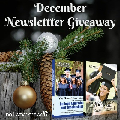 December Newsletter Giveaway - Enter to win!