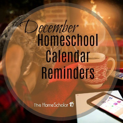 December Homeschool Calendar Reminders