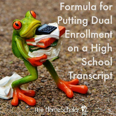 Formula for Putting Dual Enrollment on a High School Transcript
